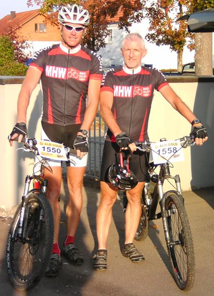 Michael und Hans vor dem Start
